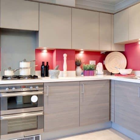 Кухня древесный низ, верх - Софт-тач (бархатные фасады) - от 37 000р.-