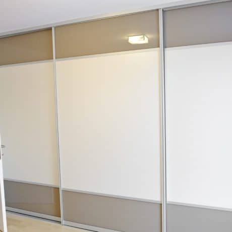Modern wardrobe with sliding doors