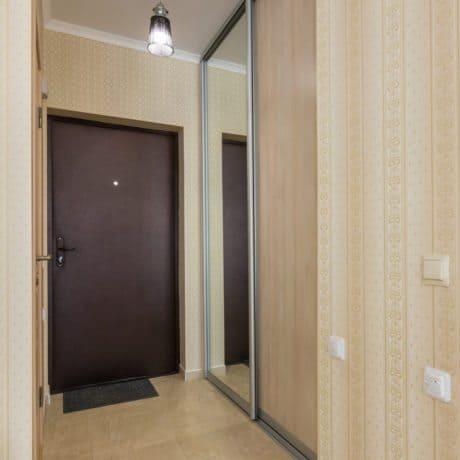 Entrance hallway, interior, entrance door and wardrobes
