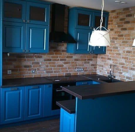 Кухня с крашеными фасадами, матовая эмаль. От 160 000 р.-. Любая конфигурация и цвет по RAL